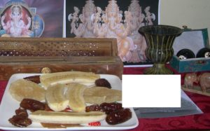 An offering to Ganesha