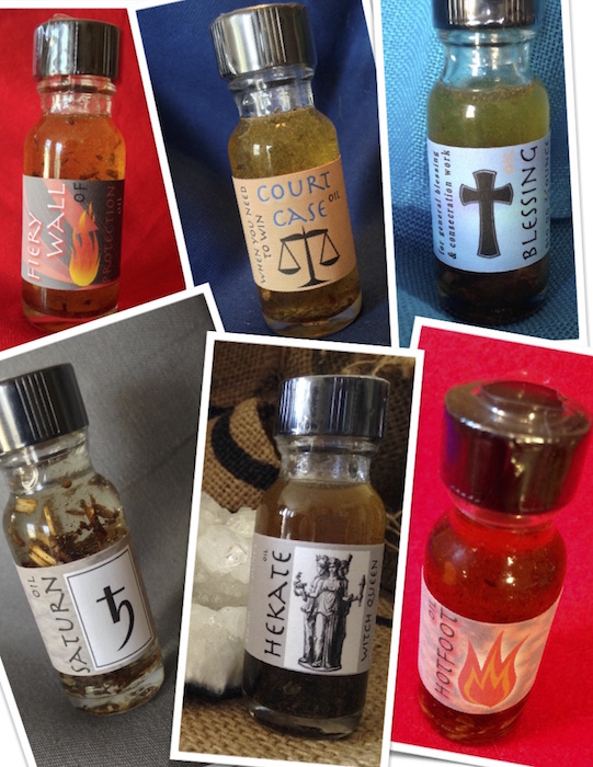 Conjure Oils, at Conjure Work, supplies for witchcraft, Ceremonial Magick, by Magus (Kevin Trent Boswell)
